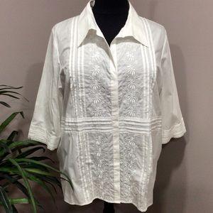 NWTS Susan Graver Plus Size Havana Style Shirt